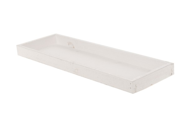 Tablett Schale weiß rechteckig