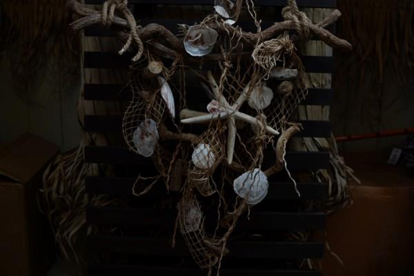 Hängedeko maritim natur groß Muschel Treibholz