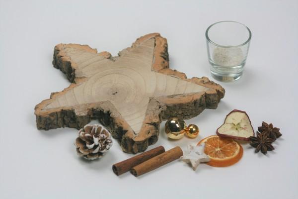 Weihnachtsstern Holz gold DIY
